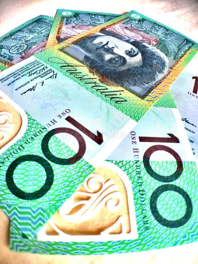 de dollar van Australië, munt stock foto's