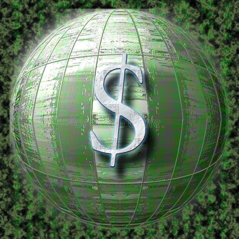 De dollar van de elektronische handel stock afbeeldingen