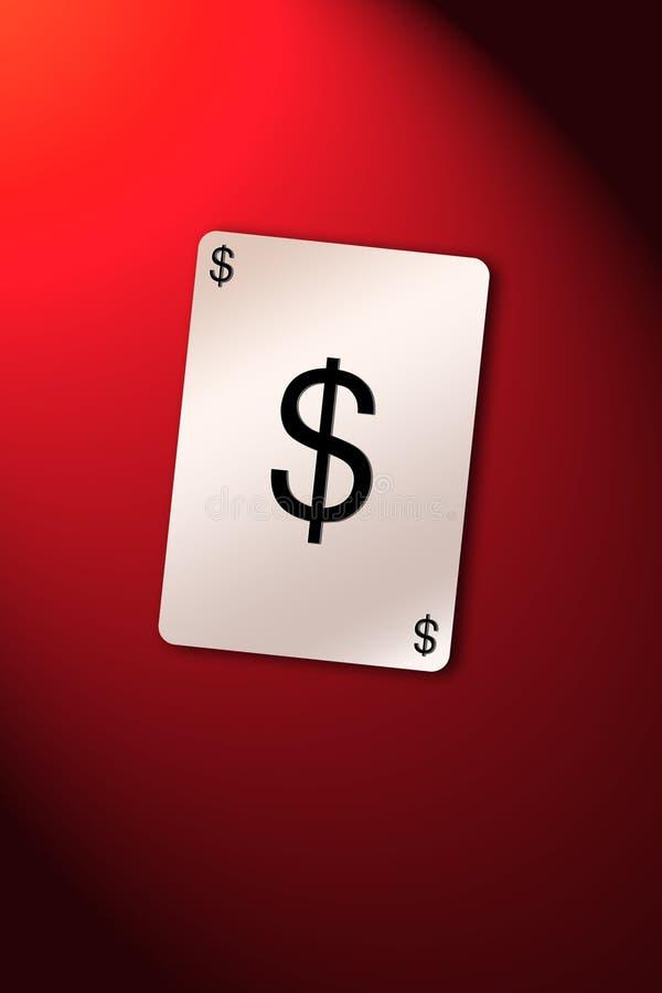 De dollar van de speelkaart royalty-vrije illustratie