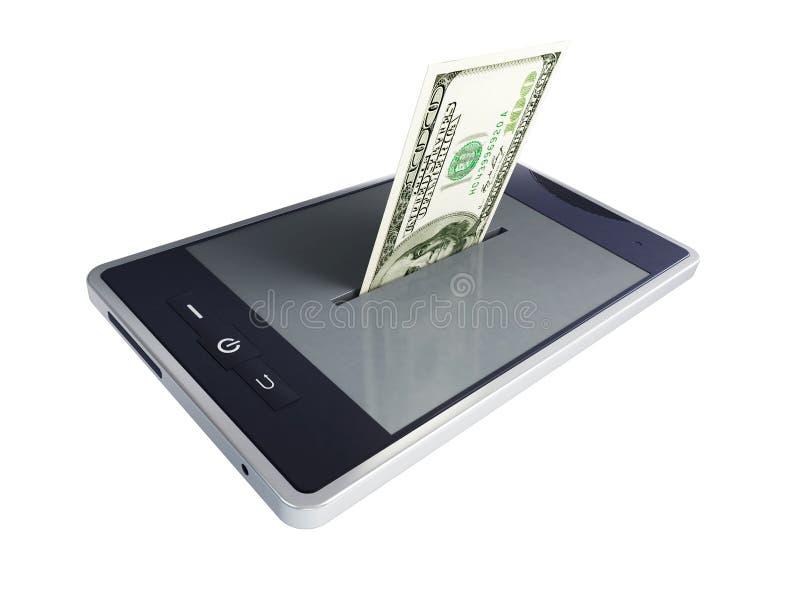 Download De dollar van de telefoon stock illustratie. Afbeelding bestaande uit digitaal - 24251580
