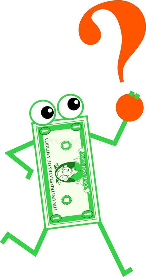 De dollar van de vraag vector illustratie