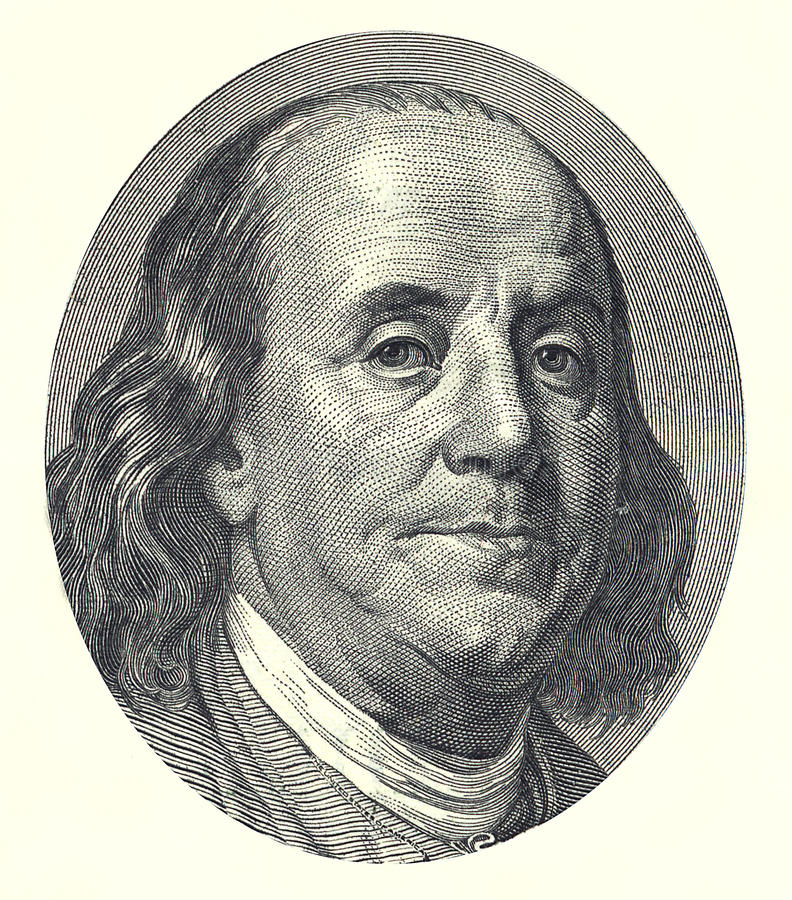 De dollar van Franklin 100 stock illustratie