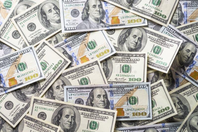 De dollar van het contant geldgeld stock afbeelding
