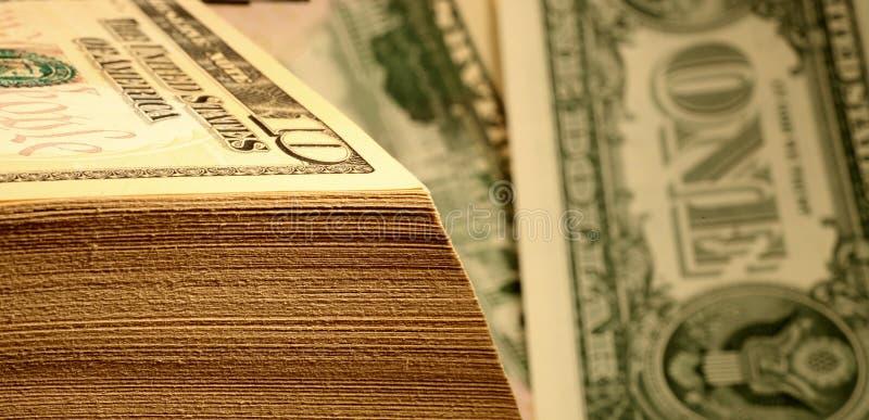 De Dollar Van Het Geld Stock Foto's