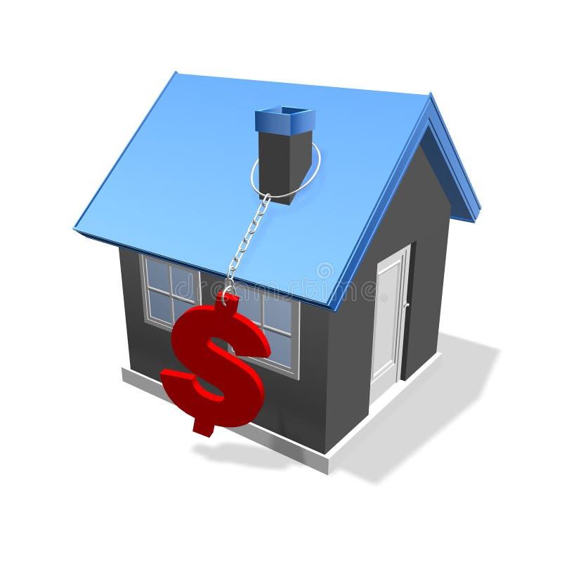 De dollar van het huis stock foto's