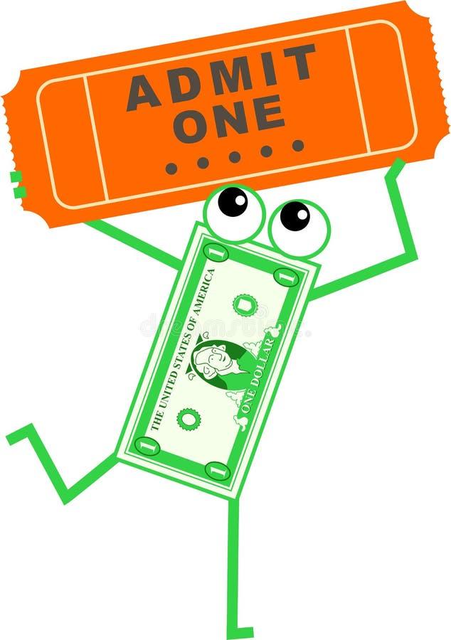 De dollar van het kaartje vector illustratie