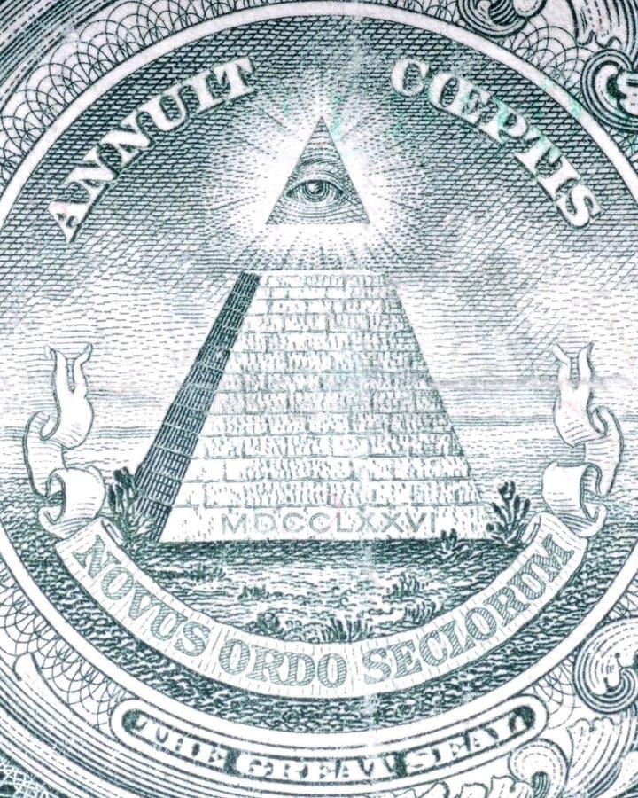 De dollar van het oog royalty-vrije stock fotografie