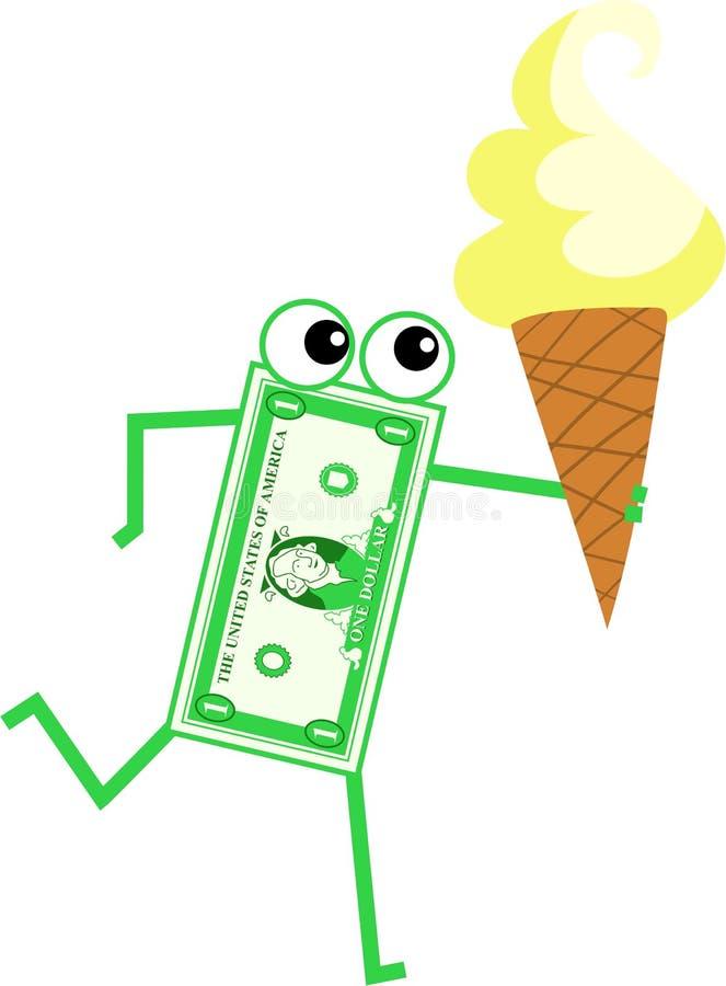 De dollar van het roomijs stock illustratie