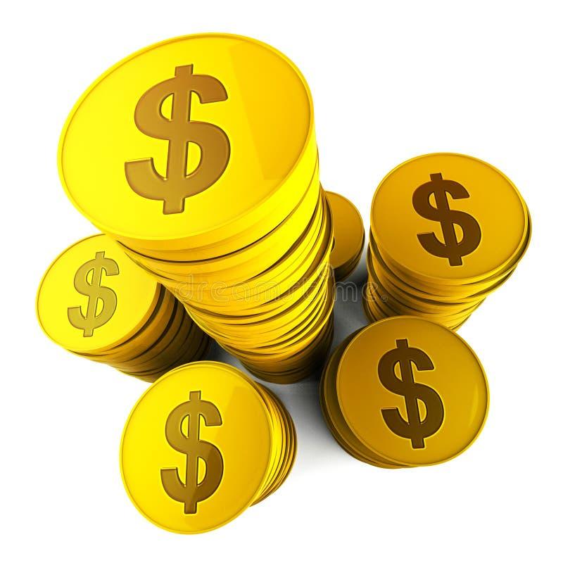 De dollarbesparingen vertegenwoordigt Amerikaanse Dollars en Bank vector illustratie