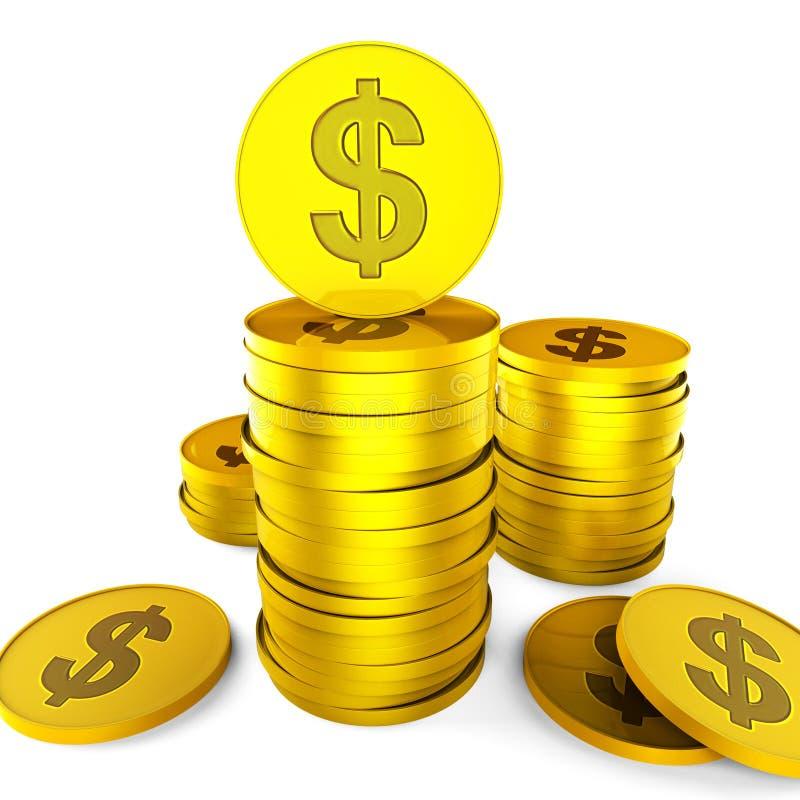 De dollarbesparingen vertegenwoordigt Opbrengstverhoging en sparen vector illustratie