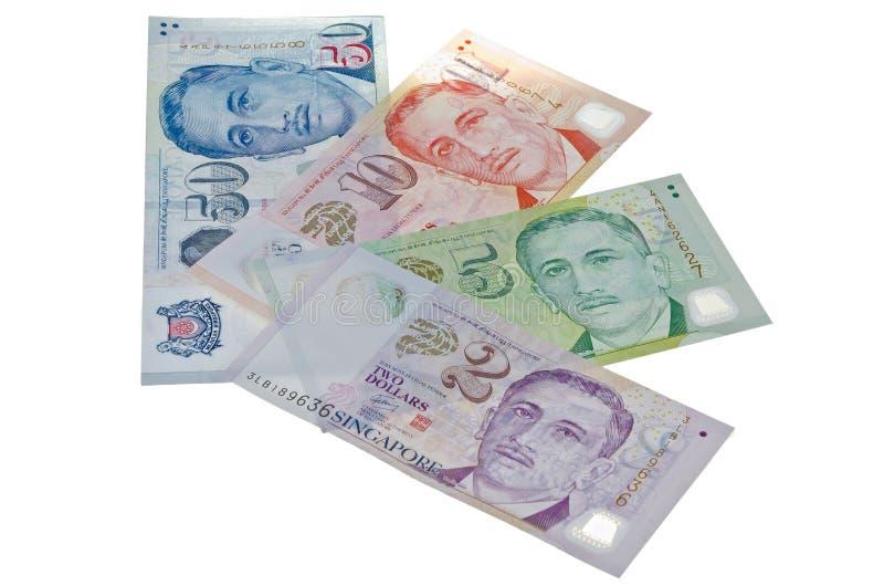 De Dollarrekeningen Van Singapore Royalty-vrije Stock Foto's