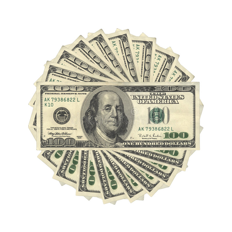 De Dollars van de V.S. royalty-vrije stock foto