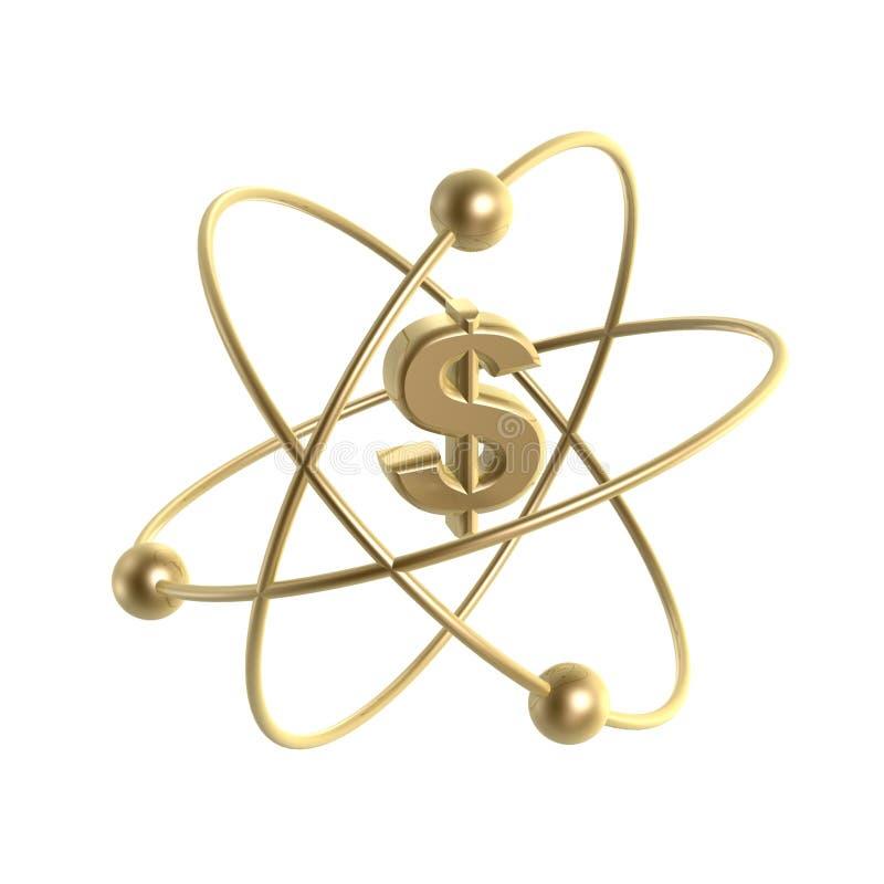 De dollarstructuur van het atoom royalty-vrije illustratie
