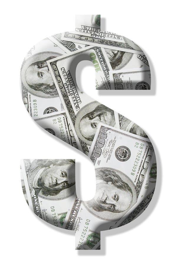 De dollarteken van de V.S. royalty-vrije stock afbeeldingen