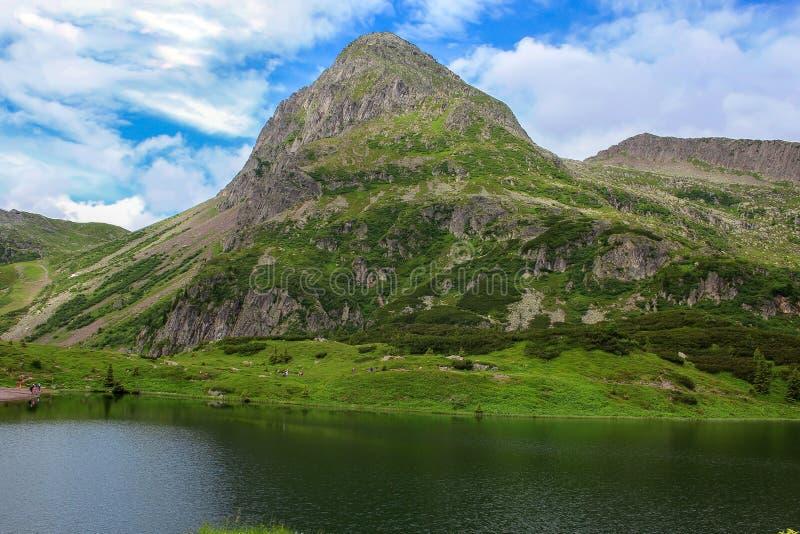 De Dolomietpieken Zij zijn een groep bergketens van de Italiaanse Alpen De plaats van de werelderfenis van Unesco Italië stock afbeeldingen