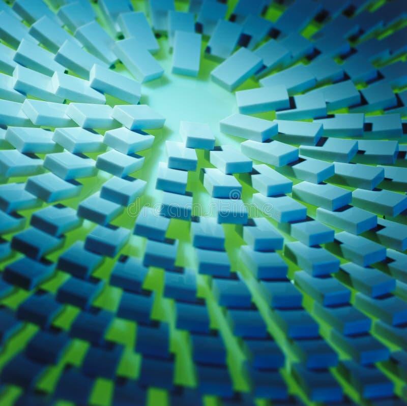 De domino's stralen complex uit stock foto's