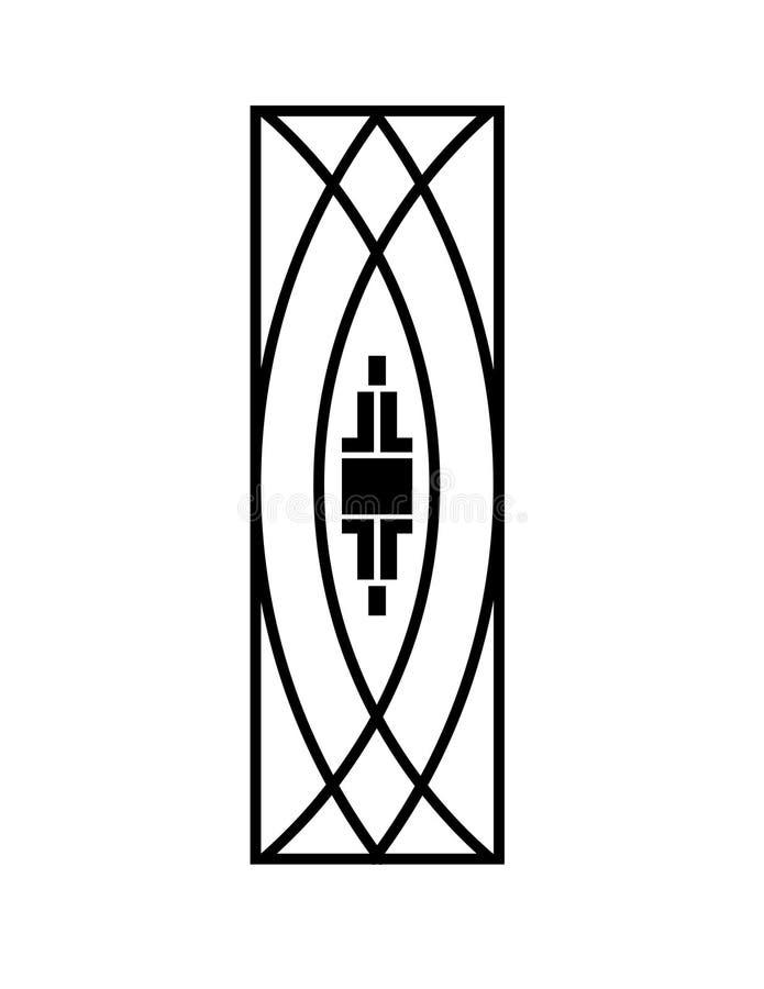 De domoor of het accent van Art Deco - pictogram royalty-vrije illustratie