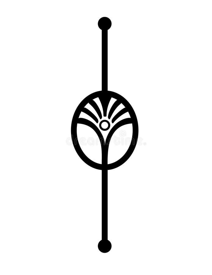 De domoor of het accent van Art Deco - pictogram vector illustratie
