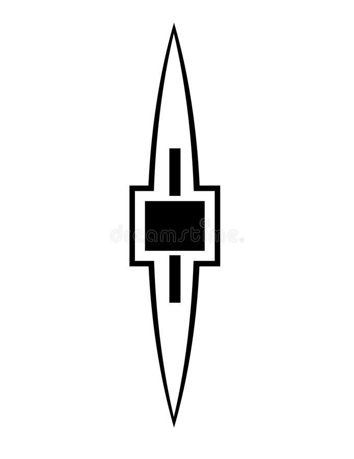 De domoor of het accent van Art Deco - pictogram stock illustratie
