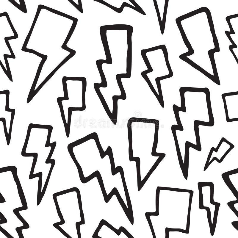 De donder bout naadloos vectorpatroon vast royalty-vrije illustratie