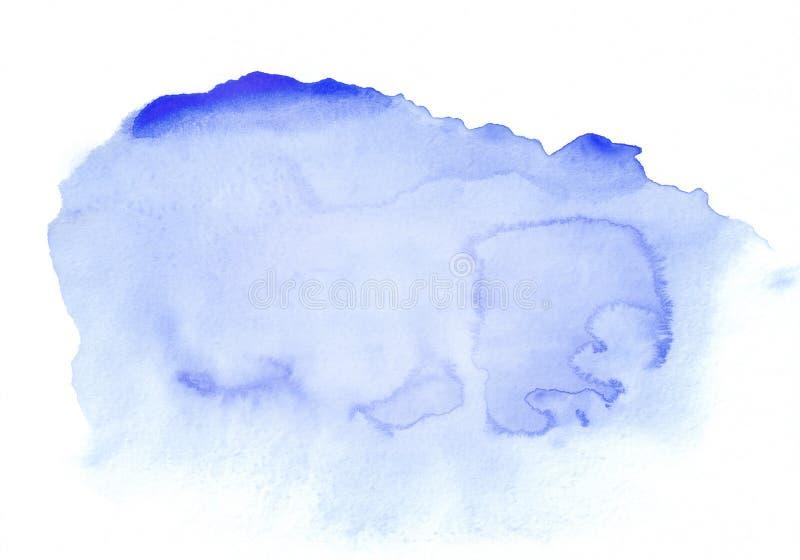 De donkerblauwe horizontale getrokken achtergrond van de waterverfgradiënt hand Het ` s nuttig voor grafisch ontwerp, achtergrond royalty-vrije stock foto