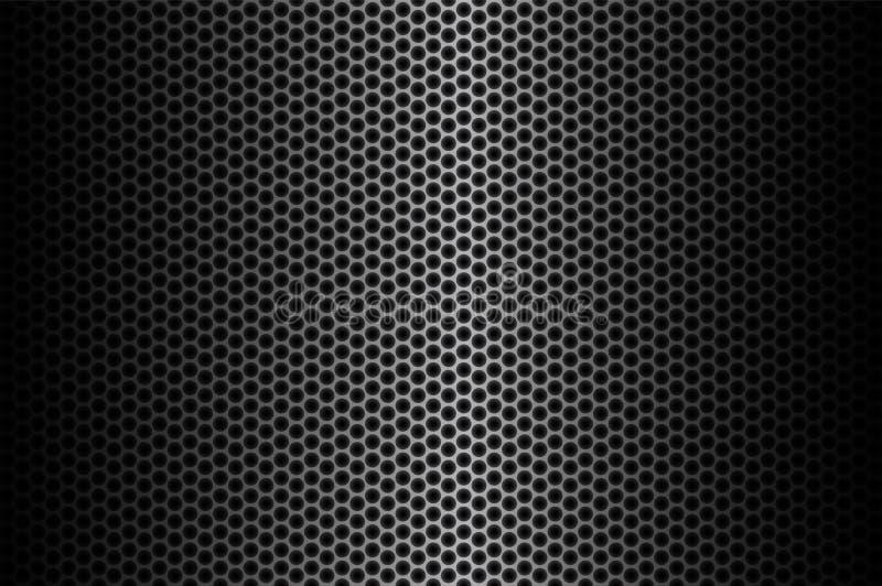 De donkere achtergrond van de koolstofvezel, voorraad vectorillustratie royalty-vrije illustratie