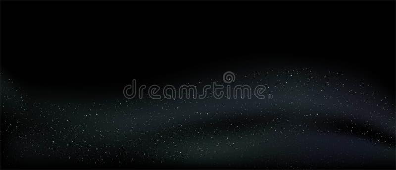 De donkere achtergrond van Nice met decoratieve golvende deeltjes stock illustratie