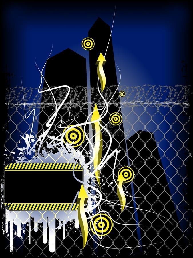 De donkere banner van Grunge royalty-vrije illustratie