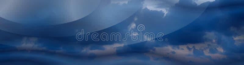 De donkere Banner van Wolken # 3 stock illustratie