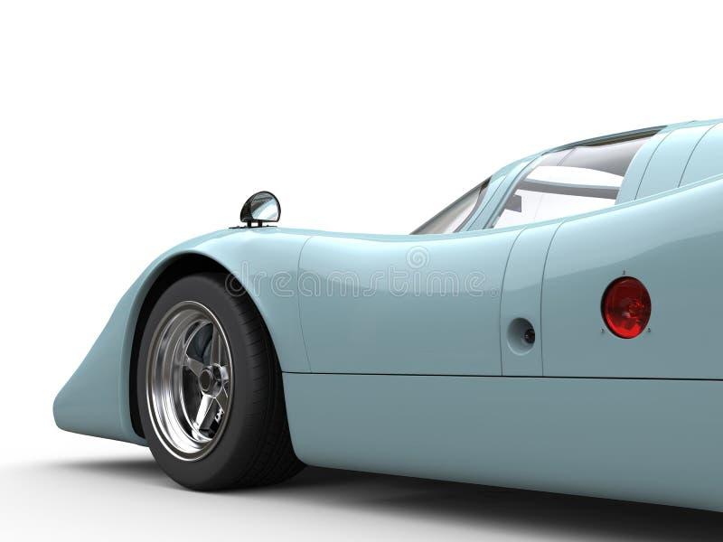 De donkere Hemel Blauwe uitstekende raceauto - zijaanzicht - sneed schot stock illustratie