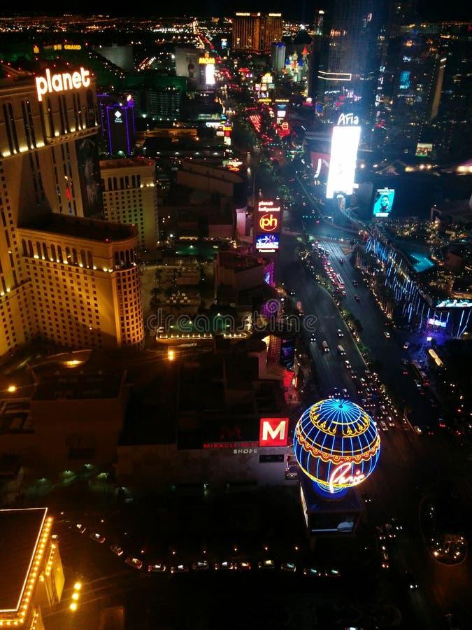 De donkere mening van de de Strooknacht van Las Vegas, Zuidenlichten royalty-vrije stock foto's