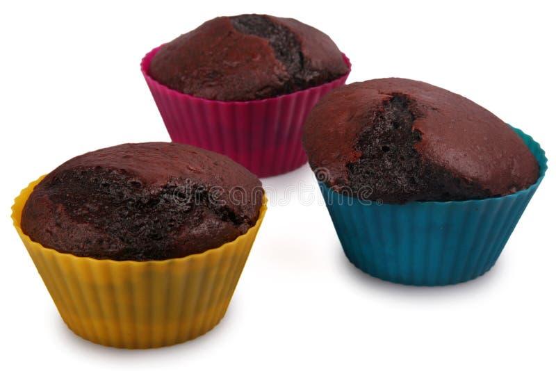 De donkere Muffins van de Chocolade royalty-vrije stock afbeelding