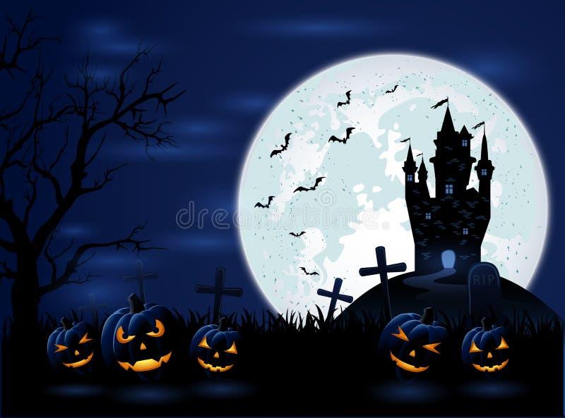 De donkere nacht van Halloween vector illustratie