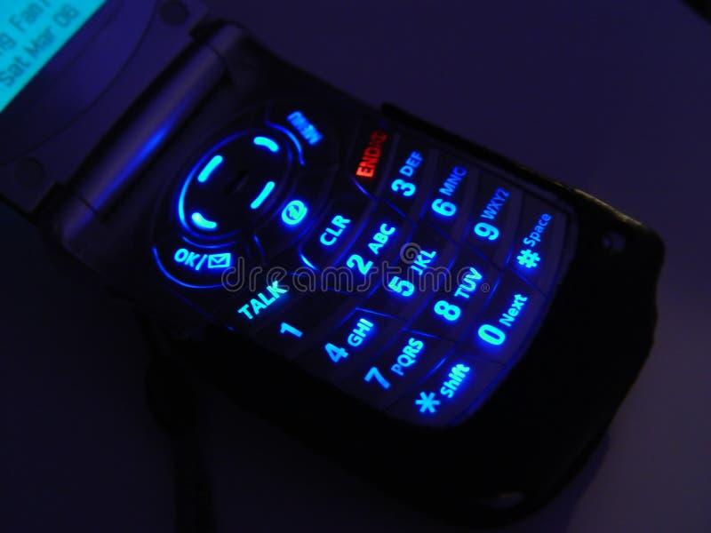 De donkere Telefoon van de Cel stock fotografie