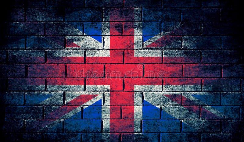 De donkere vlag van het Verenigd Koninkrijk stock illustratie