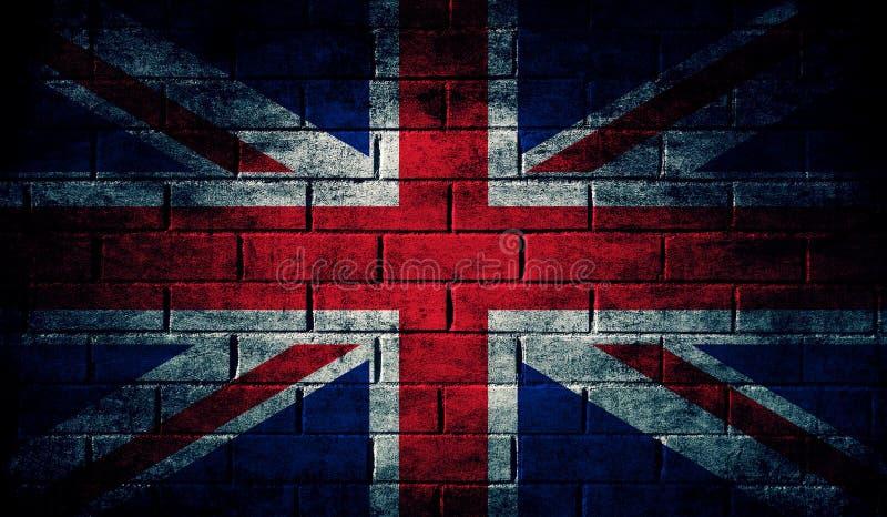 De donkere vlag van het Verenigd Koninkrijk vector illustratie