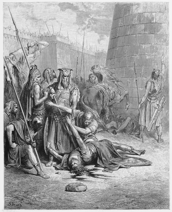 De dood van Abimelech vector illustratie
