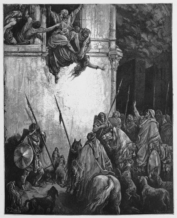 De Dood van Jezebel stock illustratie