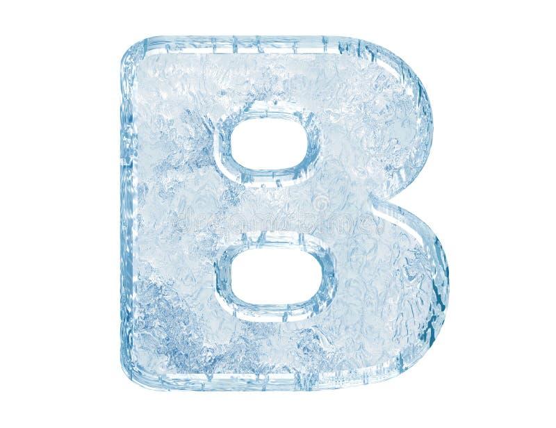 De doopvont van het ijs royalty-vrije illustratie