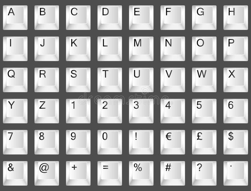 Download De Doopvont Van Het Toetsenbord Vector Illustratie - Illustratie bestaande uit brief, sleutel: 22622168