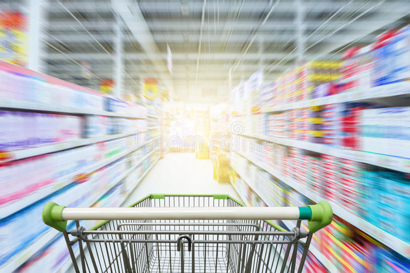 De doorgang Hongkong van de supermarkt royalty-vrije stock afbeeldingen