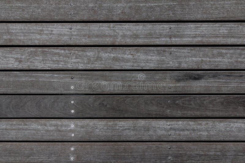 De doorstane houten textuur van de plankvloer Houten bestratingsachtergrond Het abstracte patroon van het huisdek royalty-vrije stock afbeelding