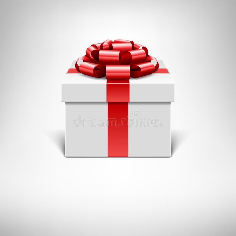 De doos en de boog van de gift royalty-vrije illustratie