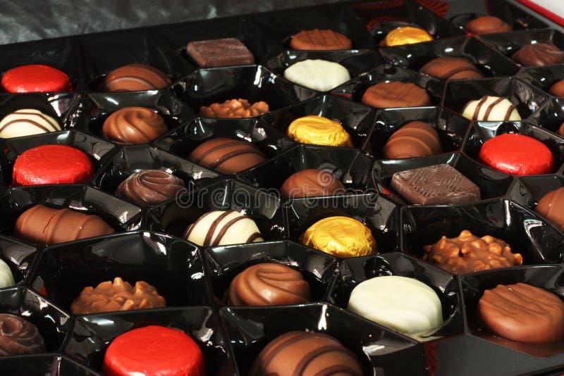 De doos van de chocoladegift stock afbeeldingen