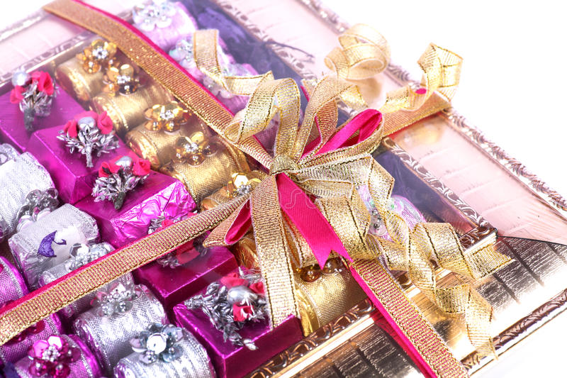 De doos van de chocoladegift royalty-vrije stock fotografie