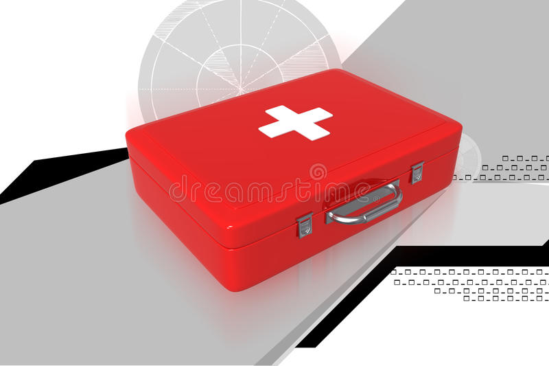 De doos van de eerste hulp royalty-vrije illustratie