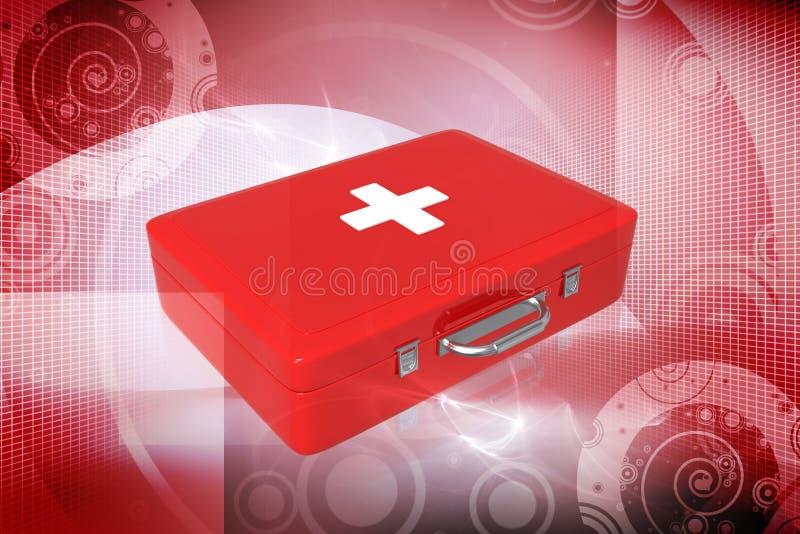 De doos van de eerste hulp vector illustratie