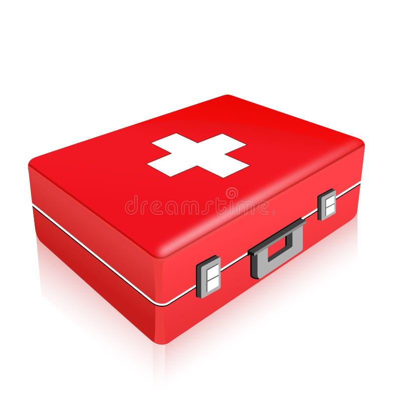 De doos van de eerste hulp stock illustratie
