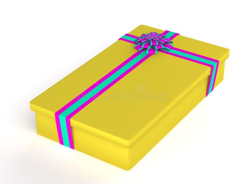 De doos van de gift die op wit wordt geïsoleerd4 royalty-vrije illustratie