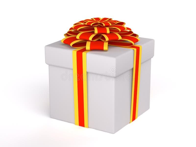 De doos van de gift die op witte achtergrond wordt geïsoleerdr royalty-vrije illustratie
